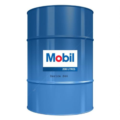 Mobil Zerice S46 Fully Synthetic Refrigeration Oil Lubricant 208 Liters